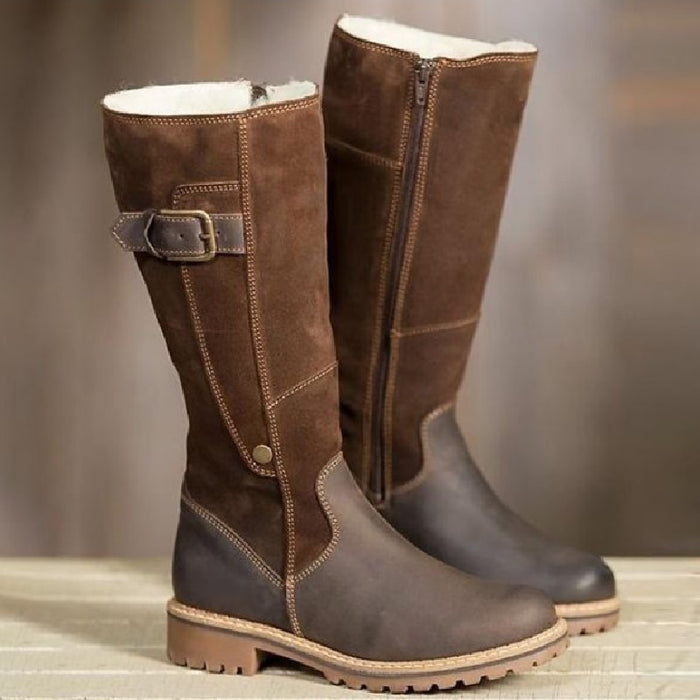 Winter Snow Boots Women New Leather Plush Warm Boots for Women Fashion Zipper - Great Stuff OnlineGreat Stuff Online