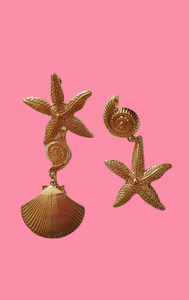 Shell & Starfish Mismatch Earrings