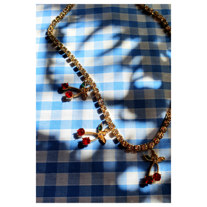 Cherry Rhinestone Necklace
