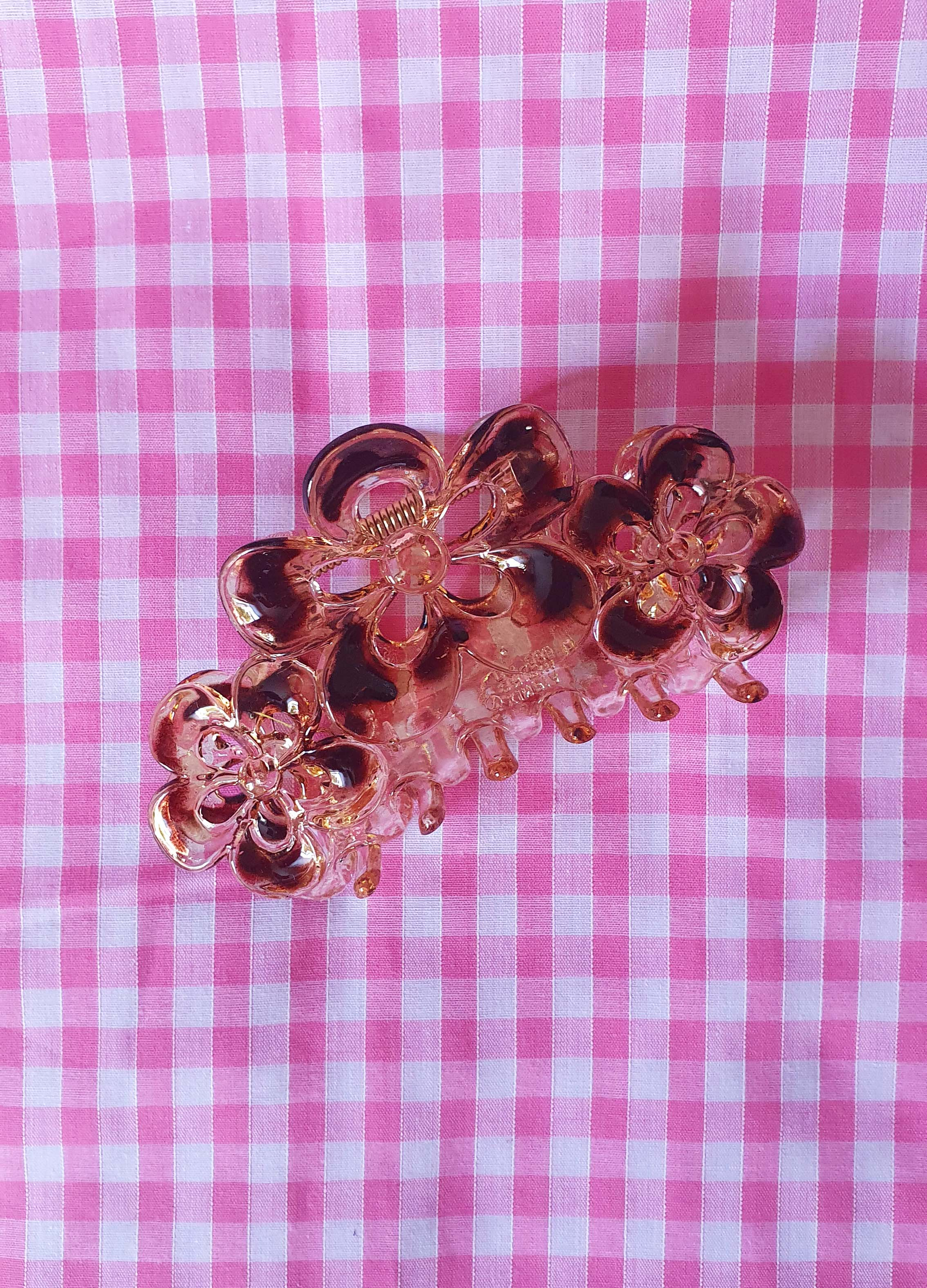 Transparent Flower Hair Clip
