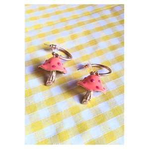 Mushroom Charm Earrings