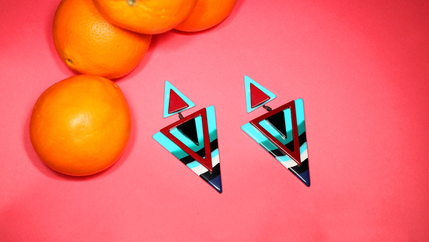 Triangle Resin Earrings