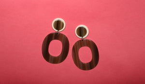 Brown & Cream Earrings