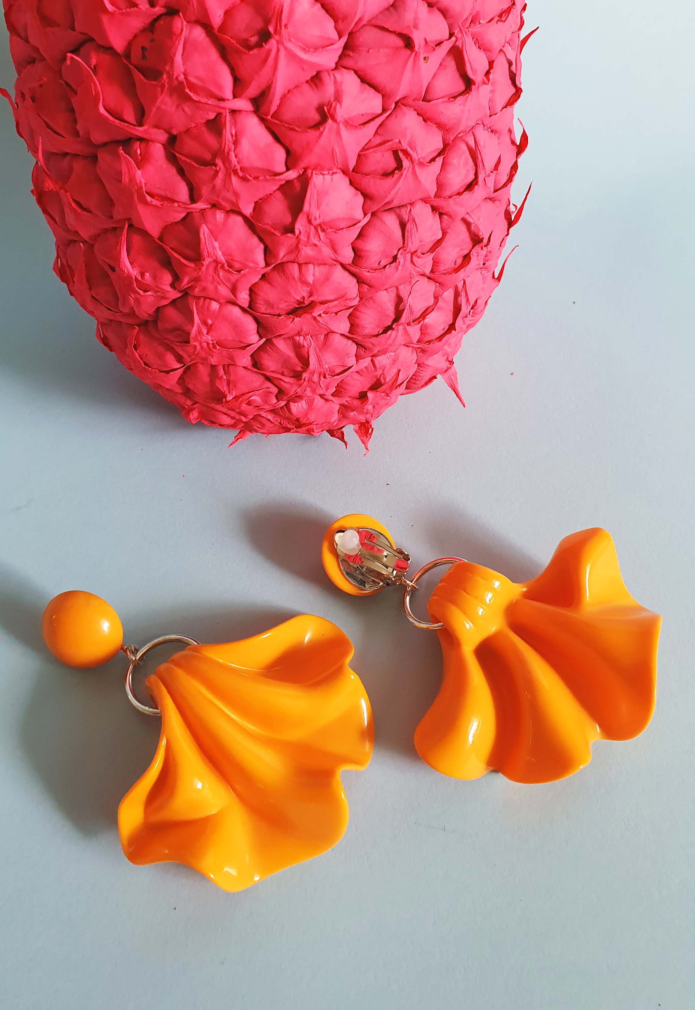 Francine Bramli Paris Orange Earrings