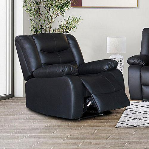 Gold Class Recliner Pu Leather 1R Black - Housethings