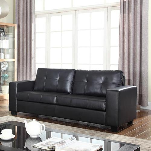 Nessa Sofa Black 3 Seater - Housethings