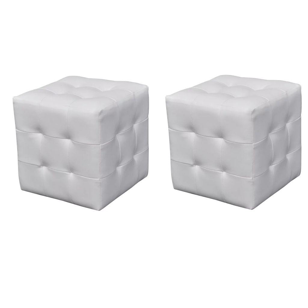 Cubed stool white