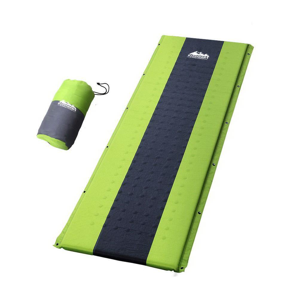 Single Self Inflating Mattress t Air Bed Green - Housethings
