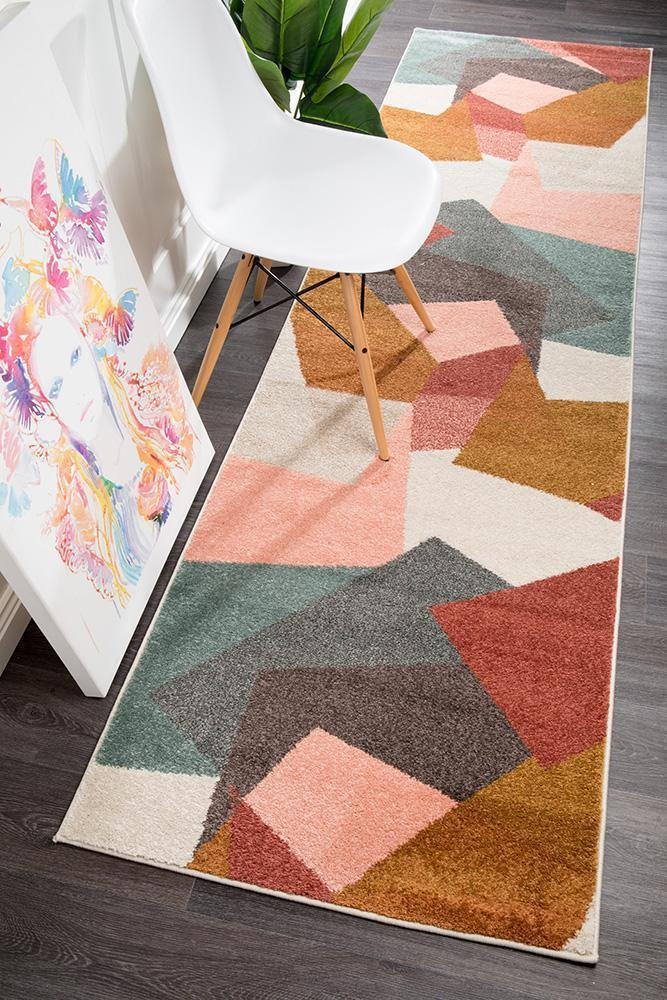 Dimensions Divinity Fragments Blush Modern Runner Rug