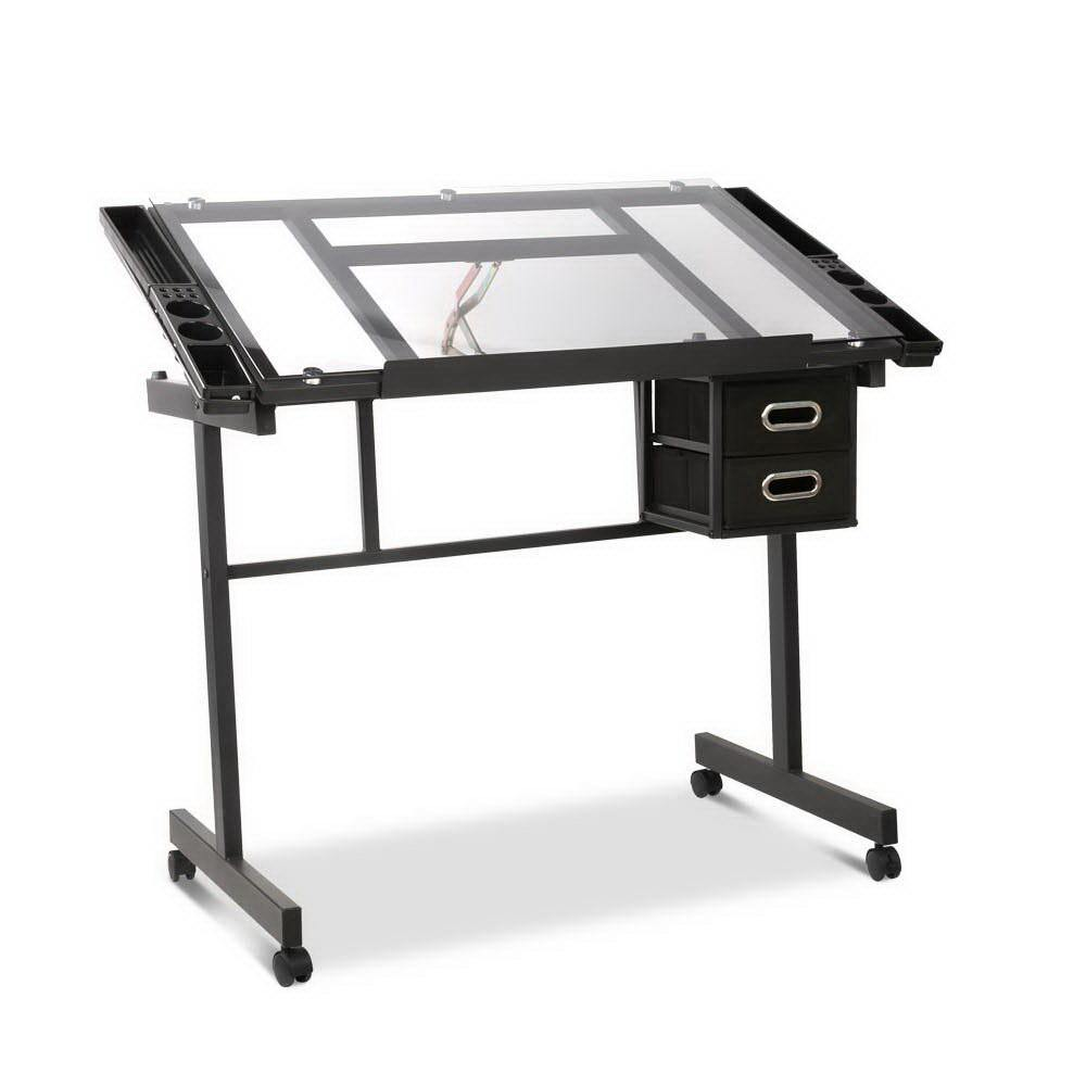 Adjustable Drawing Desk - Black and Grey - Housethings