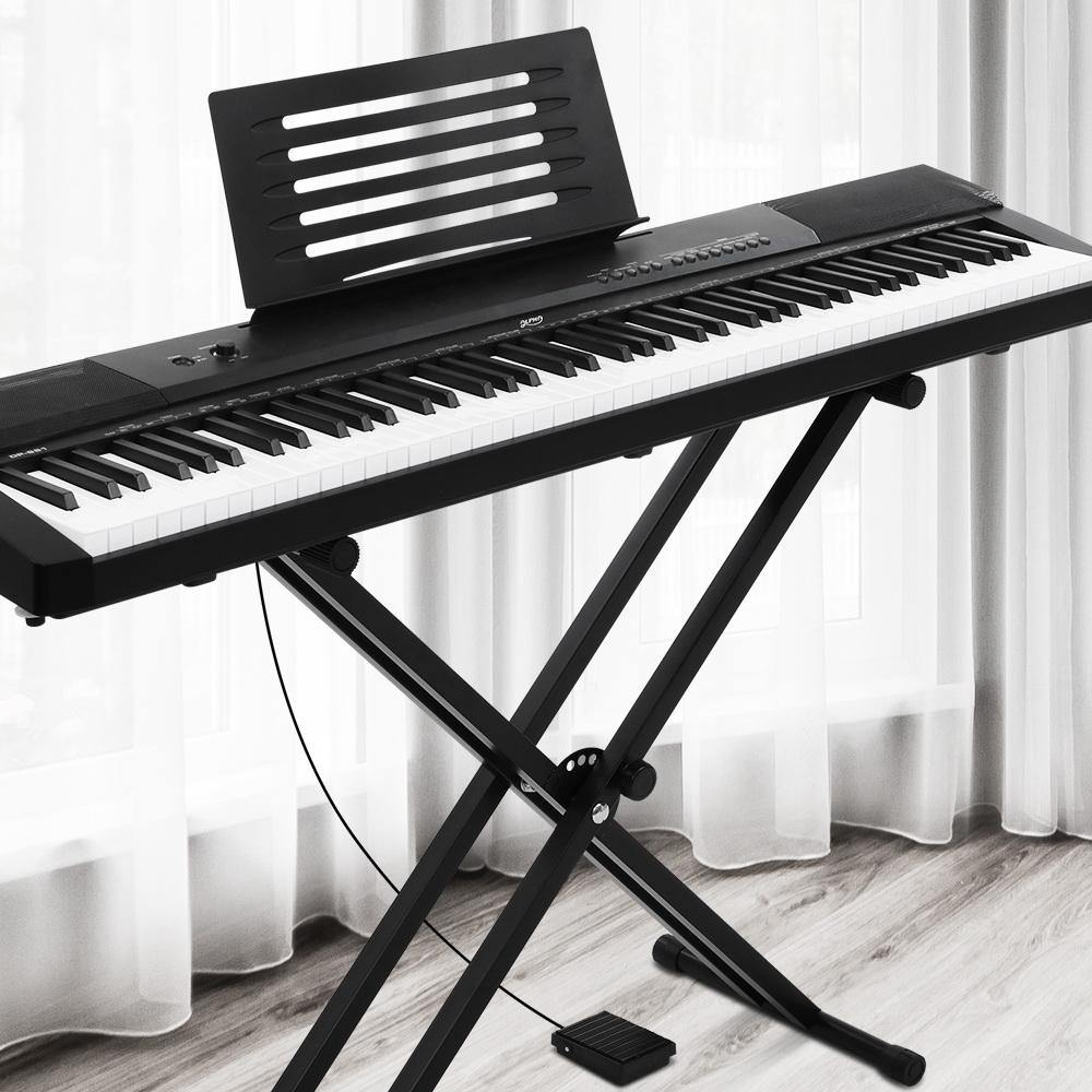 88 Keys Electronic Piano Keyboard Touch Sensitive with Sustain pedal - Housethings