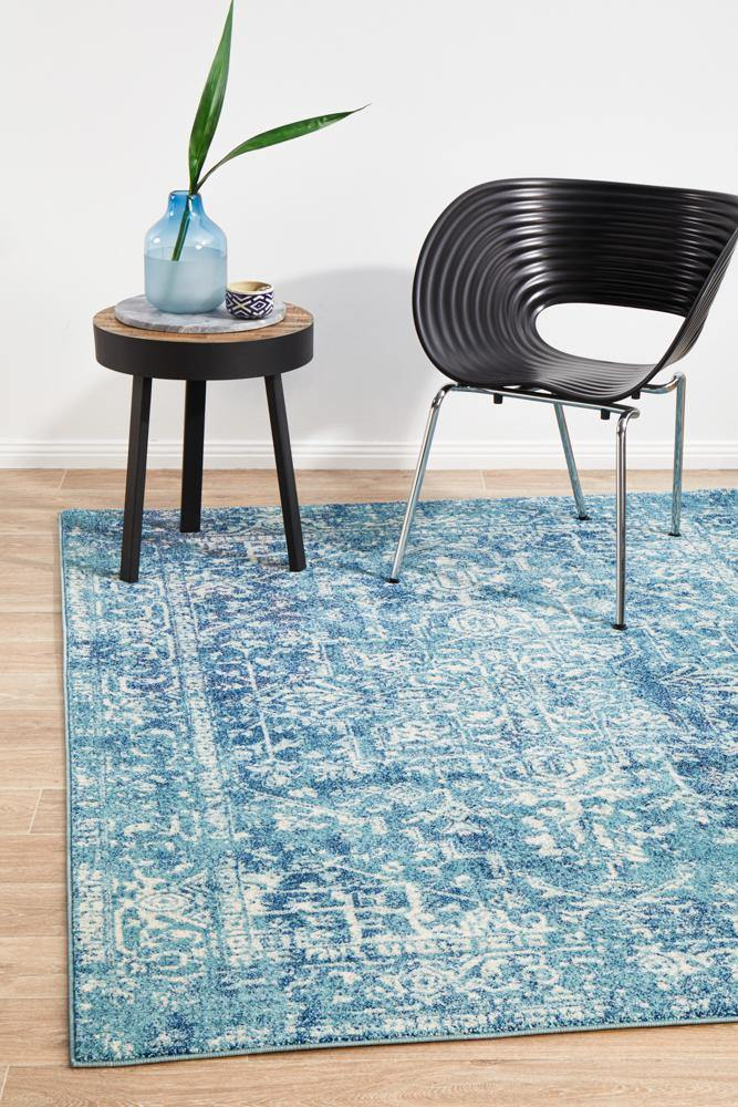 Evoke Muse Blue Transitional Rug - Housethings