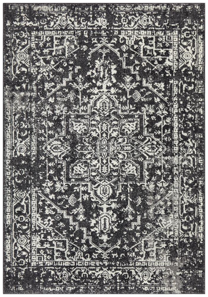 Evoke Scape Charcoal Transitional Rug - Housethings