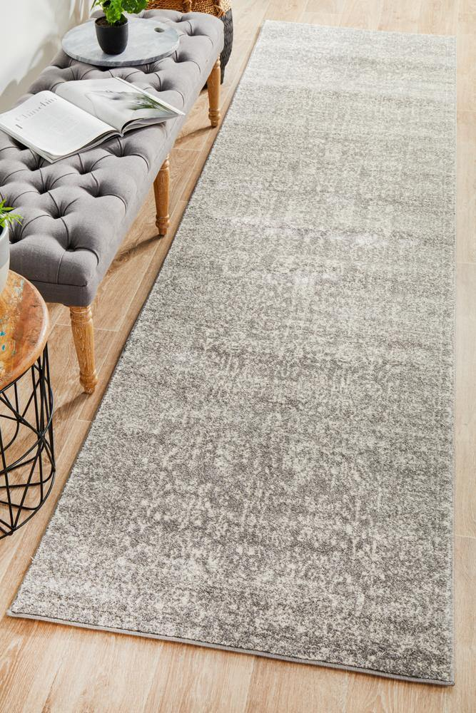 Evoke Homage Grey Transitional Runner Rug - Housethings