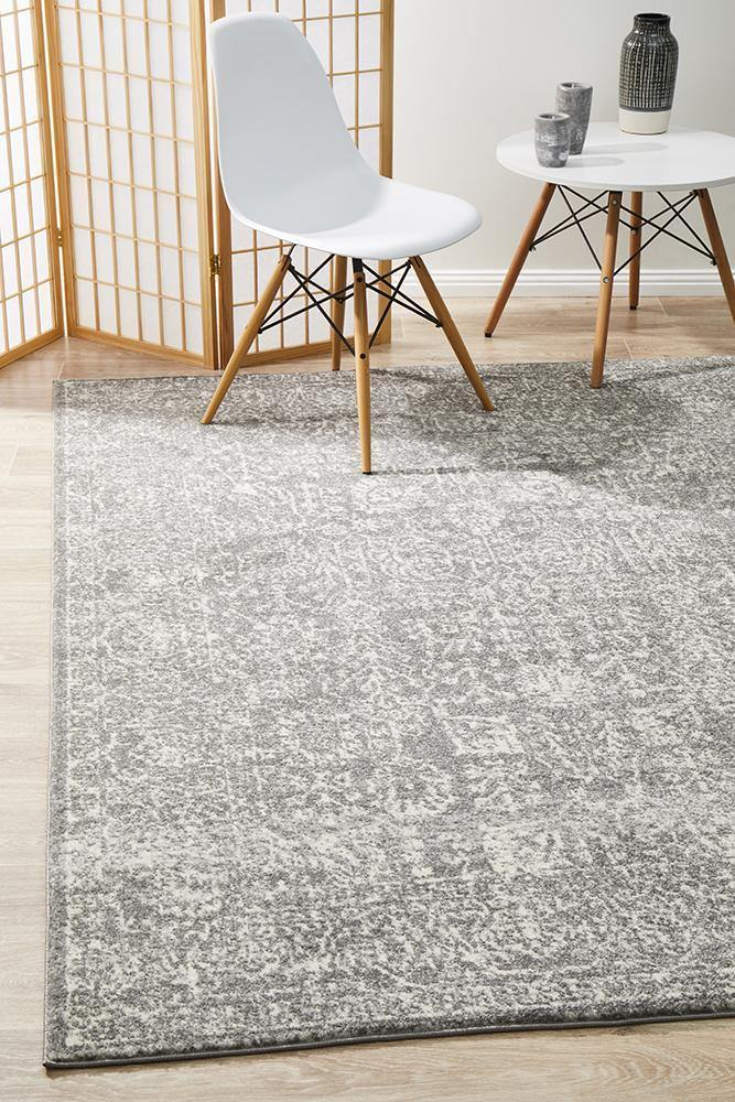 Evoke Homage Grey Transitional Rug - Housethings