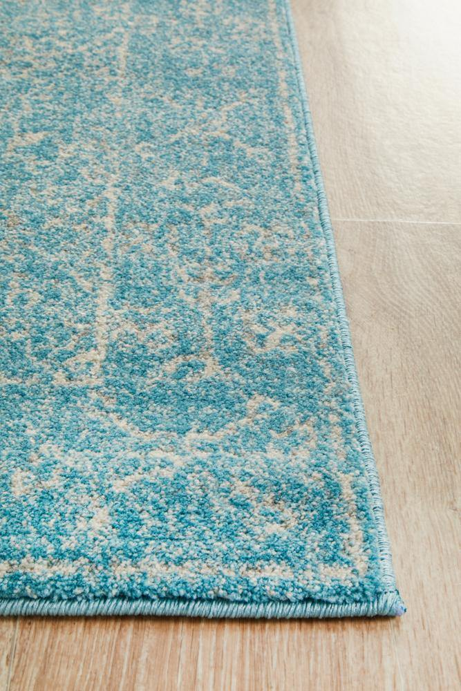Evoke Depth Blue Transitional Runner Rug - Housethings