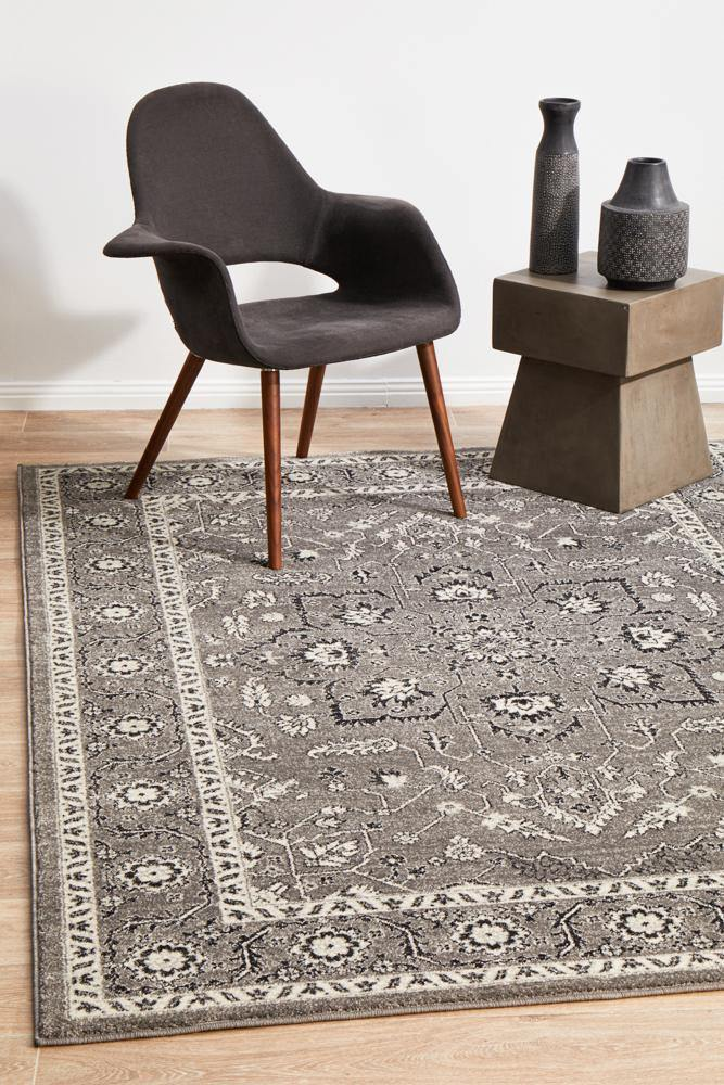Evoke Stone Grey Transitional Rug - Housethings