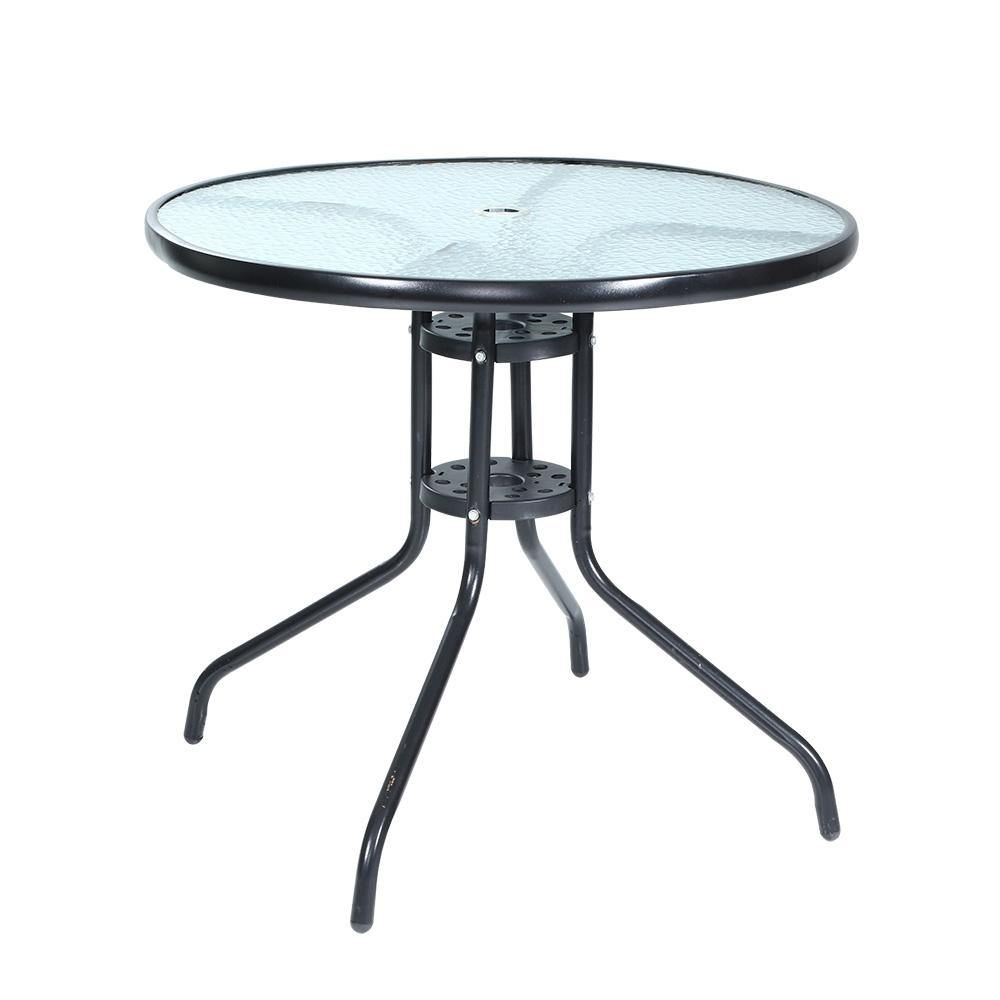 Round Steel Glass Table 70CM - Housethings