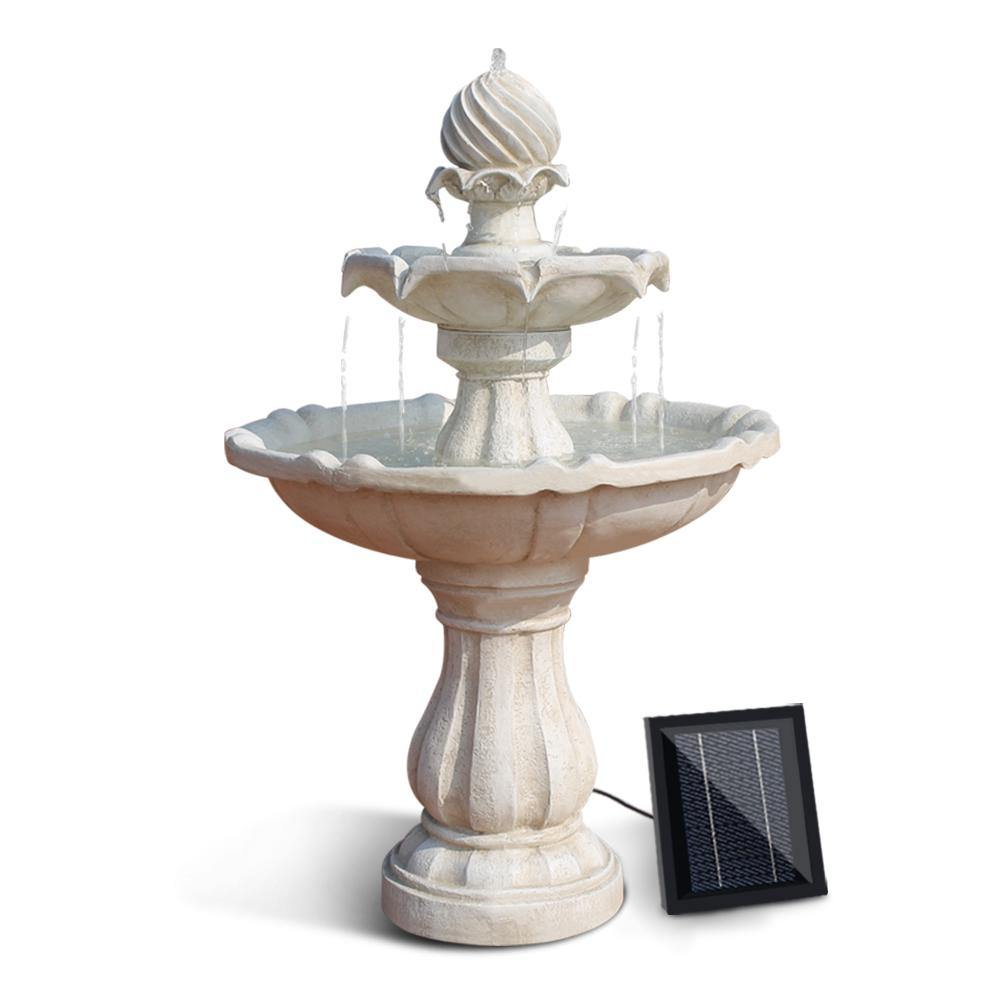 3 Tier Solar Powered Water Fountain - Bird Bath - Housethings