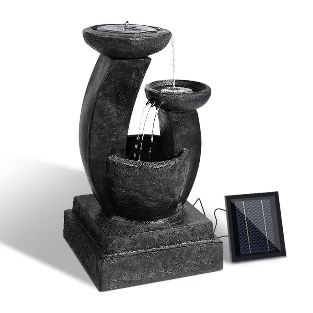 3 Tier Solar Water Fountain with Light - Bird Bath - Housethings