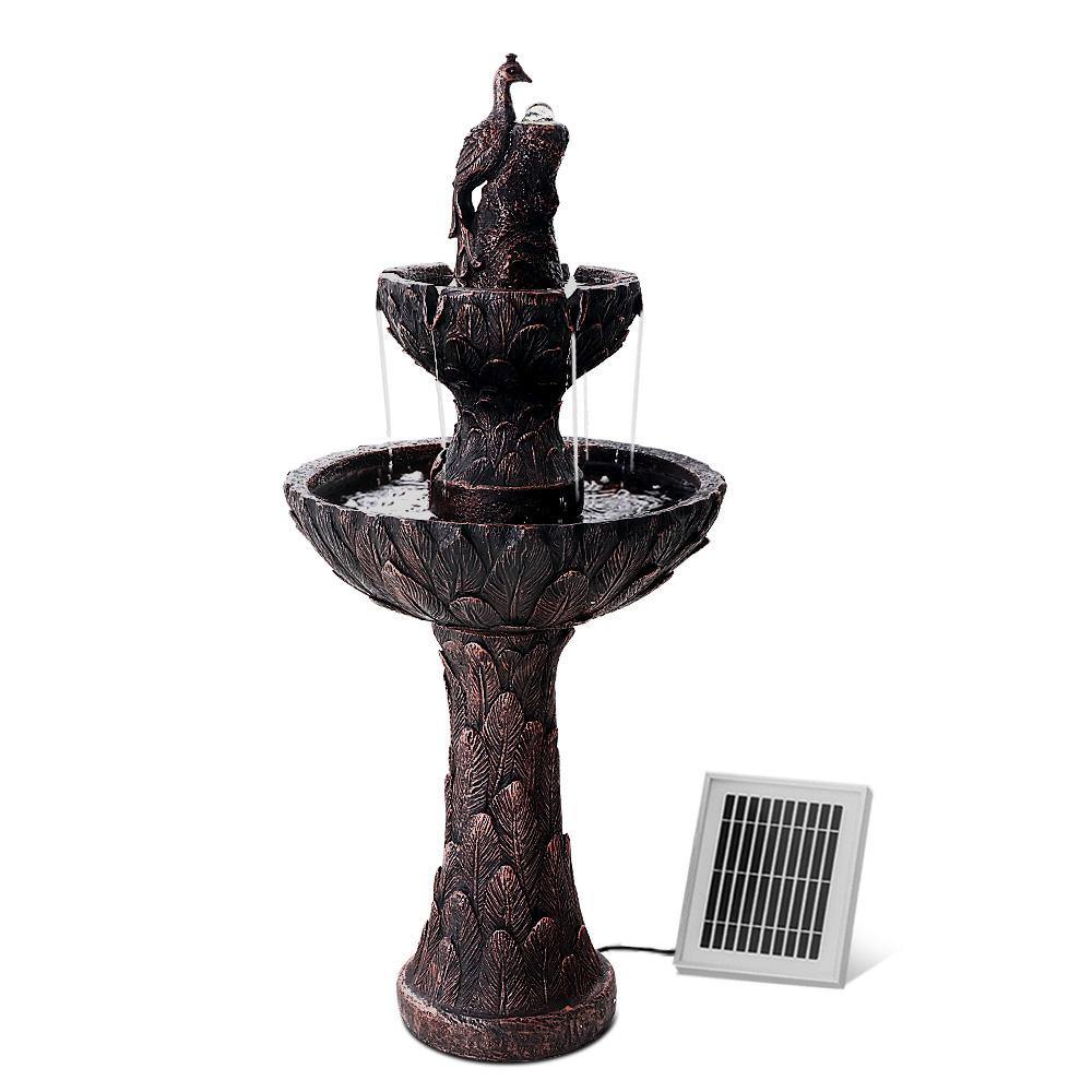 Cascading Water Fountain Solar - Housethings