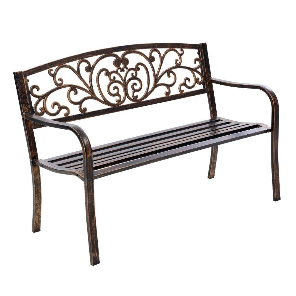 Cast Iron Garden Bench - Bronze - Housethings