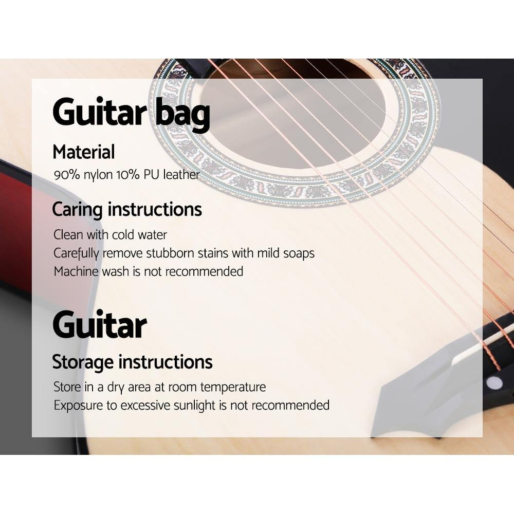 "38"" Acoustic Guitar with Accessories set Natural Wood - Housethings"