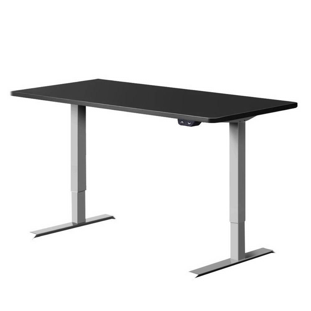 Standing Desk Height Adjustable Motorised Electric Sit Stand Table Riser 140cm - Housethings