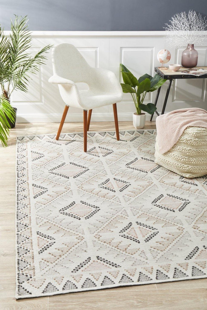 Vidya Rug white Peach - Housethings