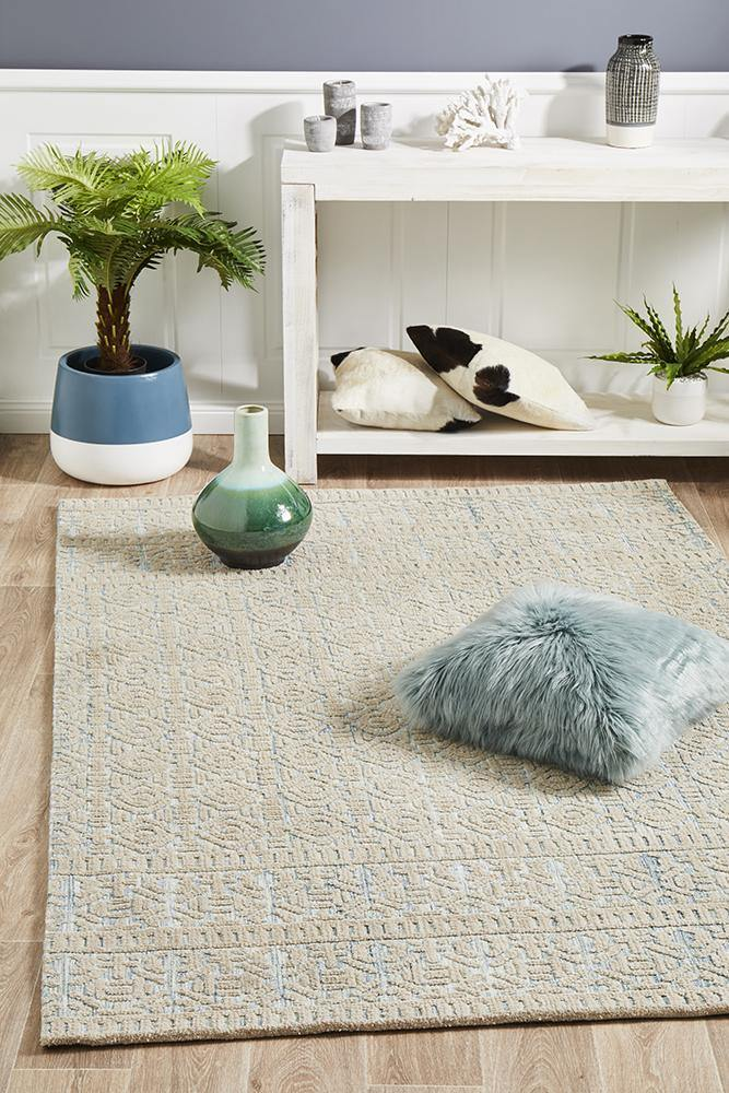 Levi Lucy Blue Green Rug - Housethings