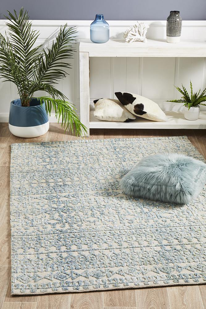 Levi Scarlett Blue Green Rug - Housethings