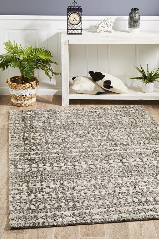 Levi Jemma Natural Grey Rug - Housethings