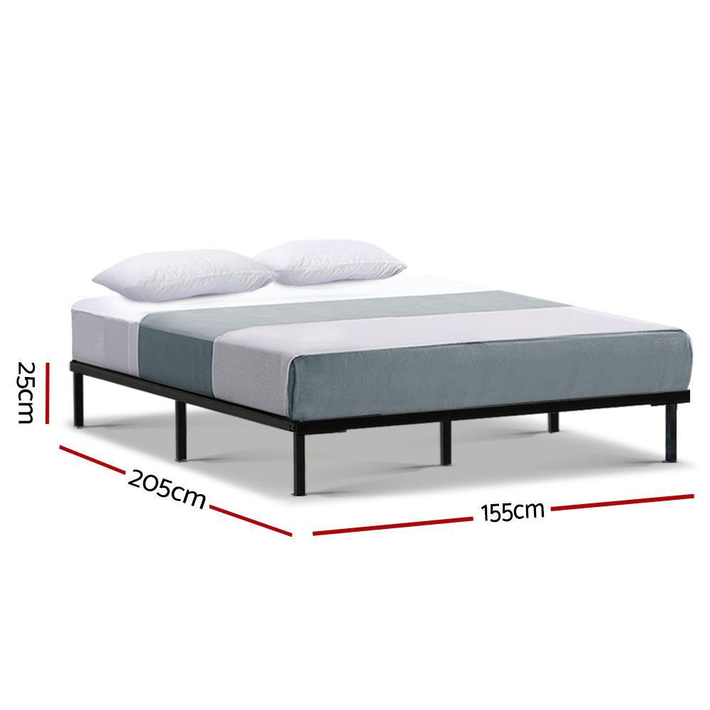 Queen Size Metal Bed Frame Black - Housethings