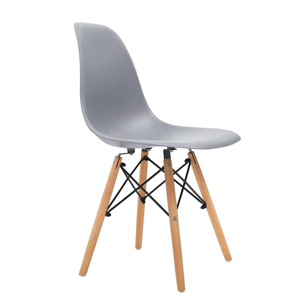 4 x SANDY Retro Dining Chairs Grey - Housethings