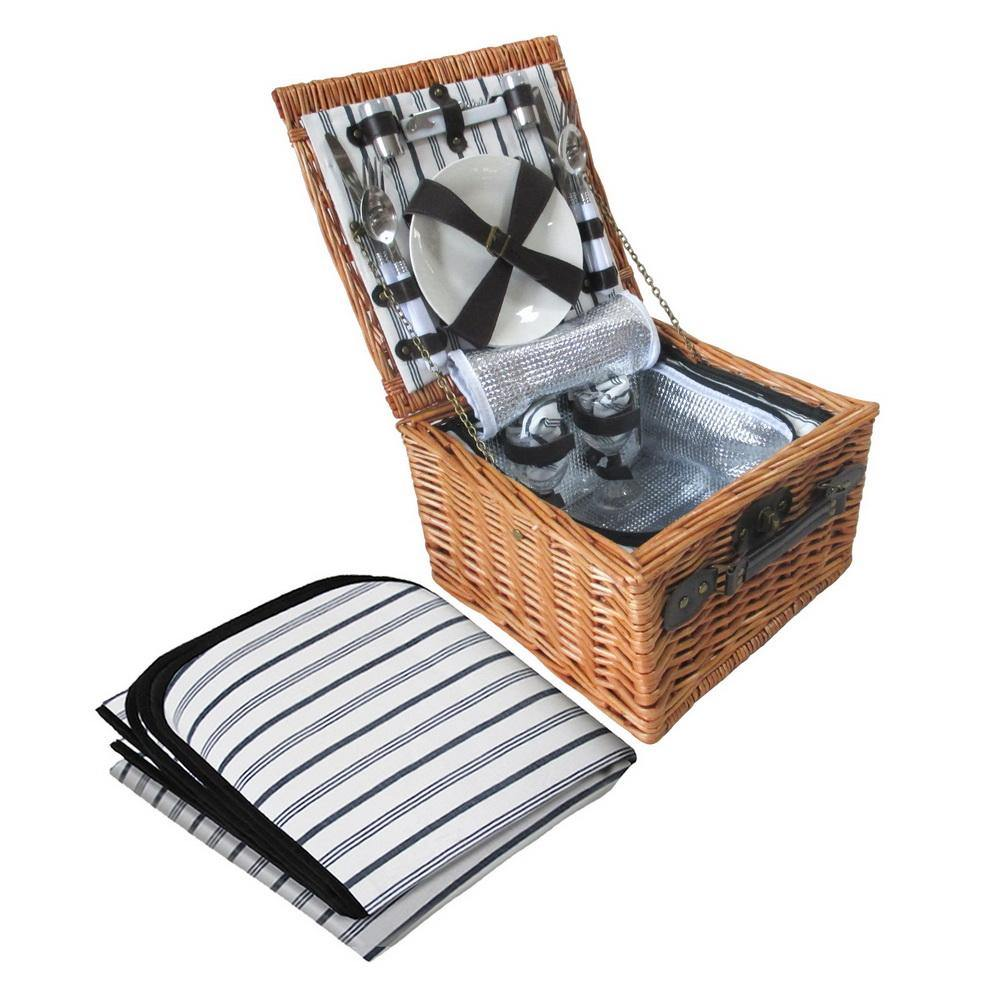 2 Person Picnic Basket with Blanket - Housethings