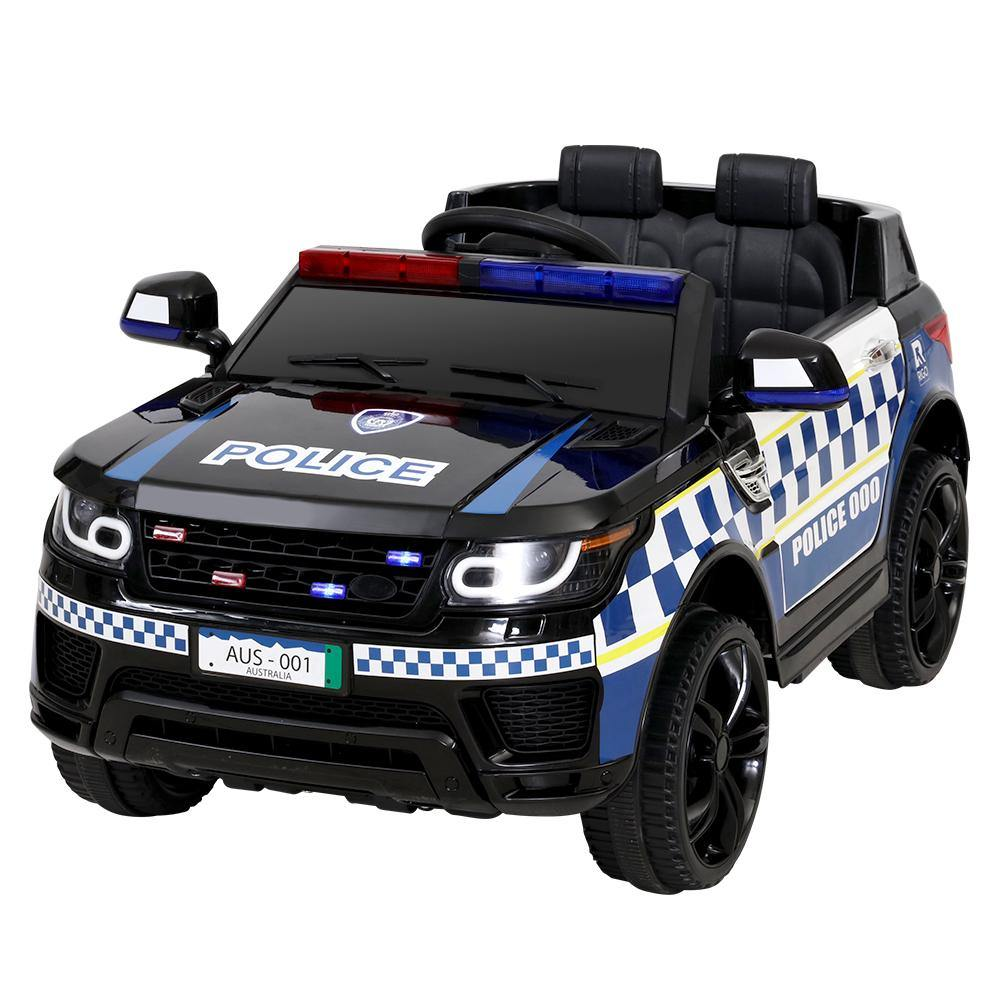 Kids Ride On Car Patrol Police Electric  Black - Housethings
