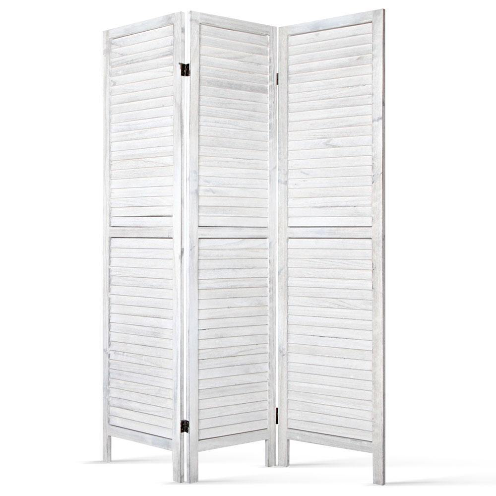 3 Panel Privacy Screen White - Housethings