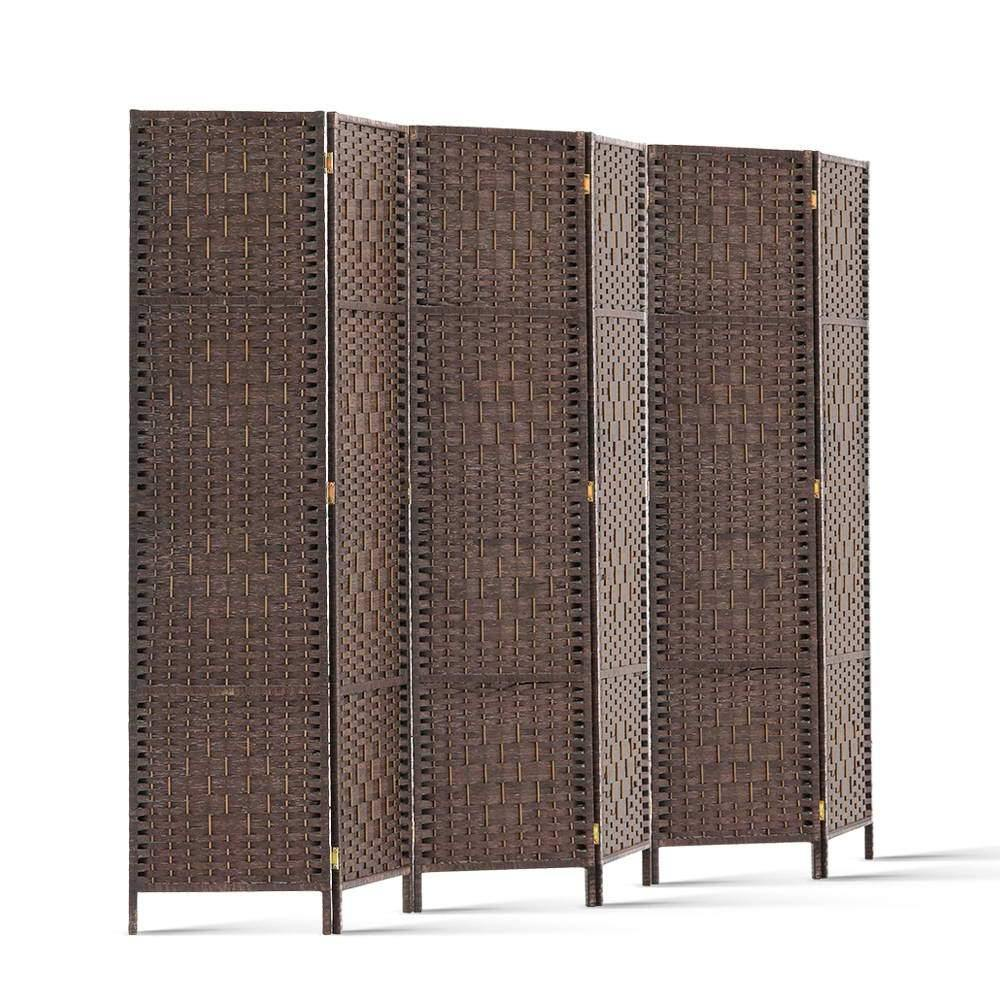 6 Panel Room Divider - Brown - Housethings