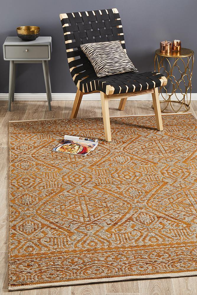 Relic Reuben Rust Natural Rug - Housethings