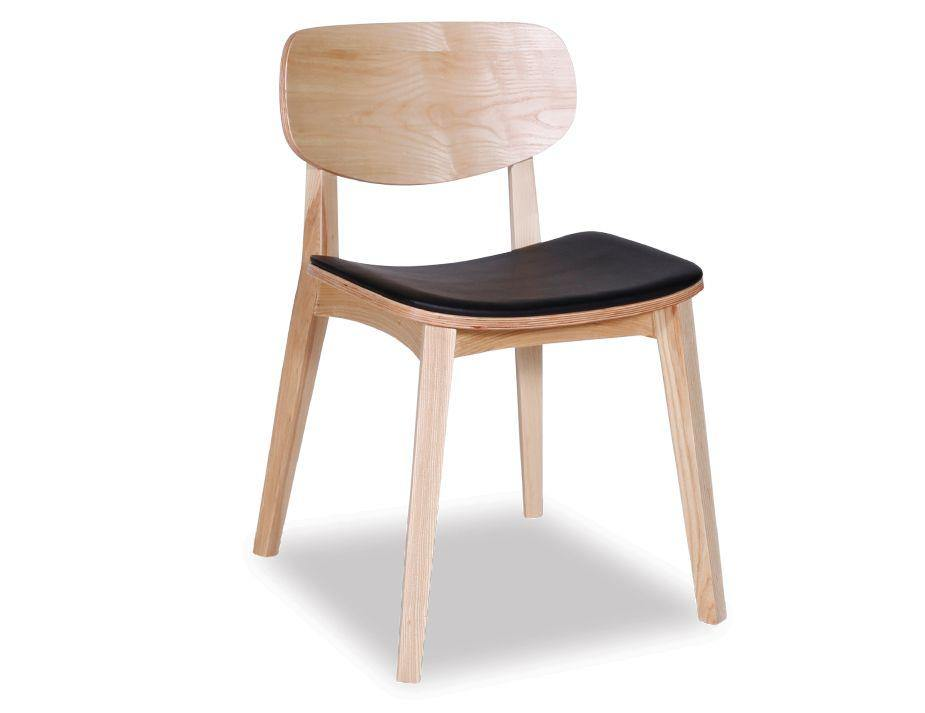Solly Chair - Natural - Black Pad
