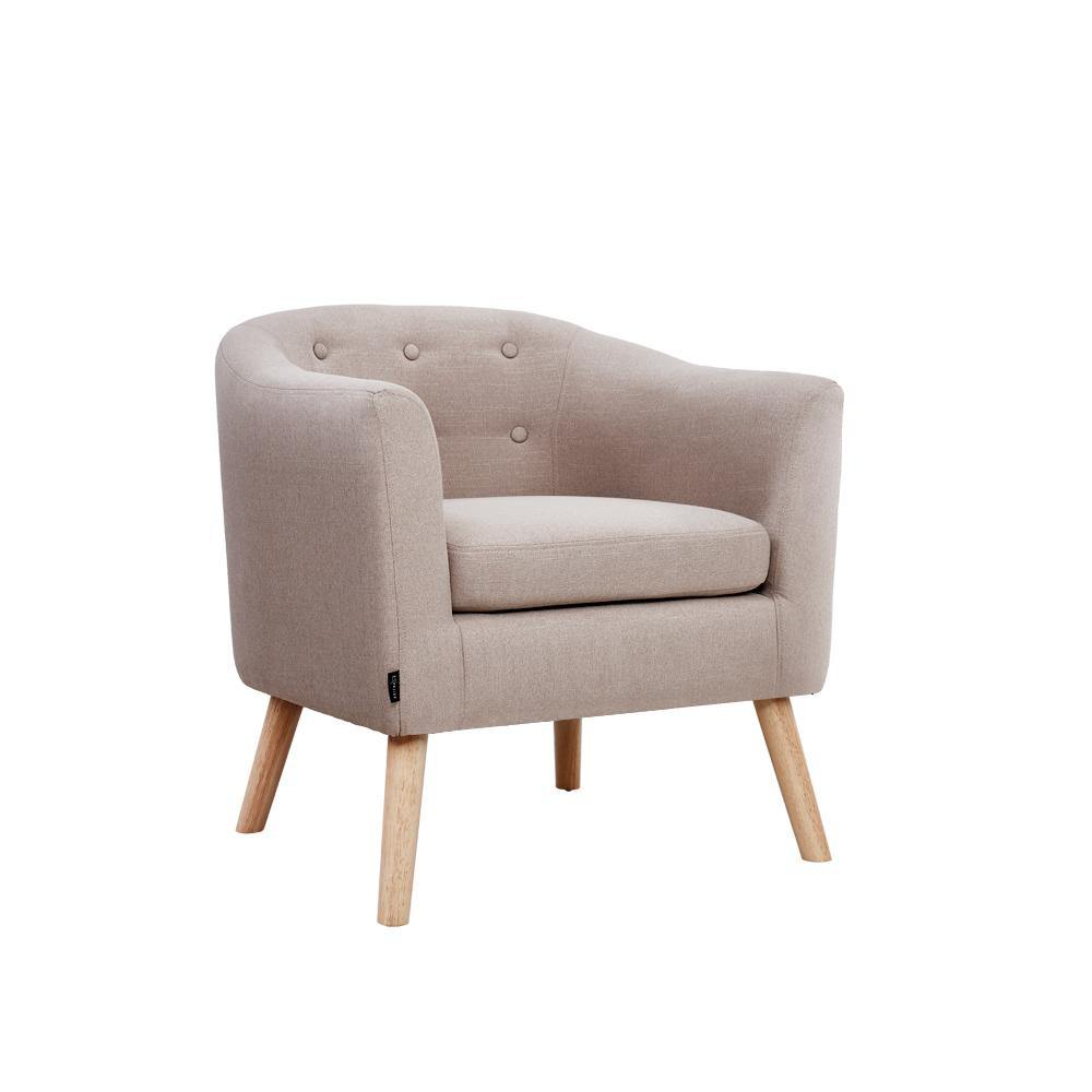 Annetta Tub Armchair Fabric Beige - Housethings