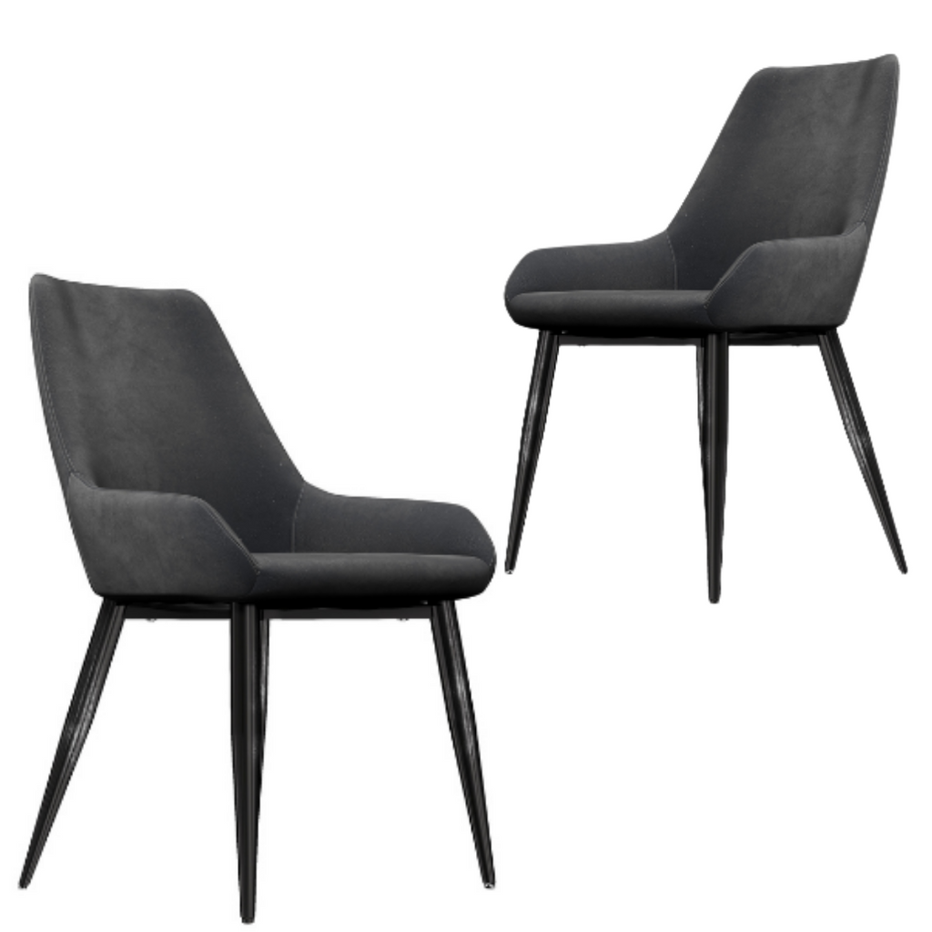 William Grey Velvet Dining Chair x 2 - Housethings