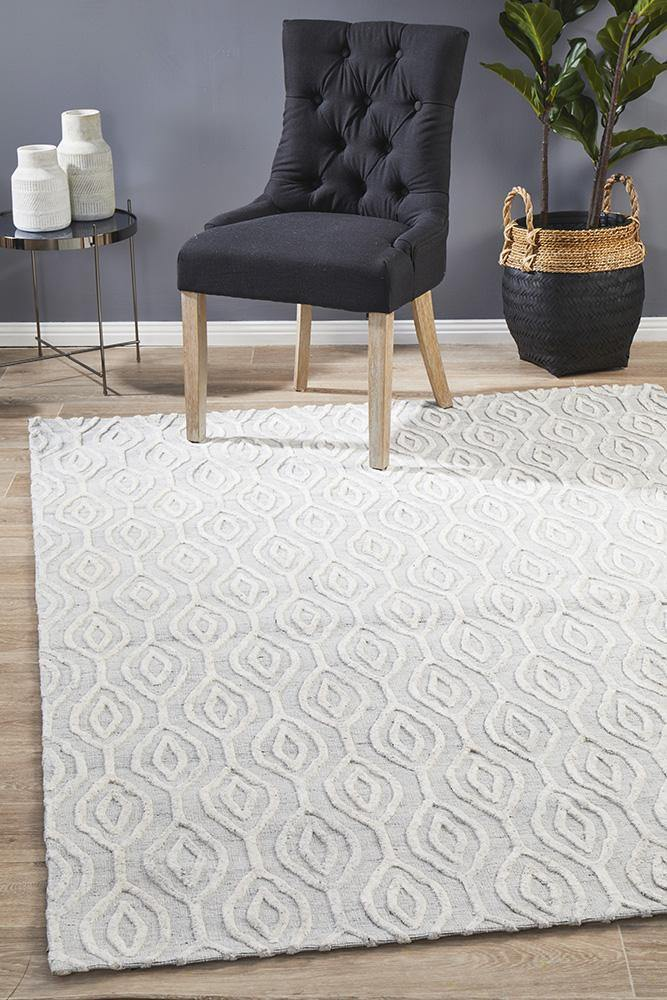 Visions Winter Wish White Modern Rug - Housethings