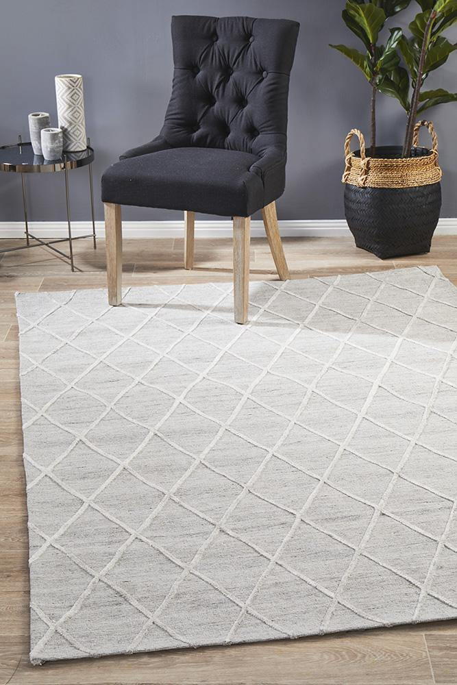 Visions Winter Silver Styles Modern Rug - Housethings