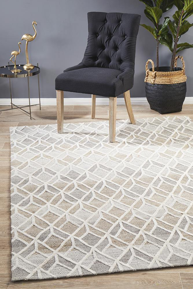 Visions Winter Sand Hills Modern Rug - Housethings