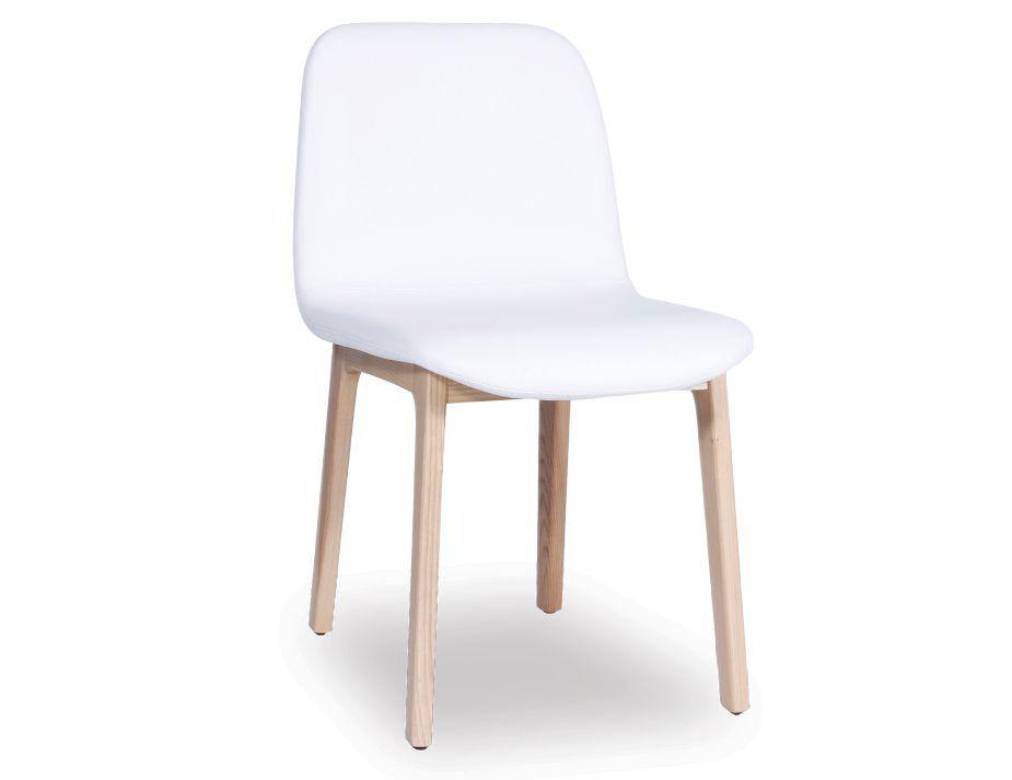 Harper Padded White Leather Dining Chair