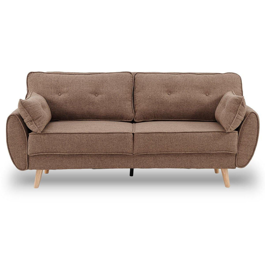 Salvatore 3 Seat Lounge - Coffee - Housethings