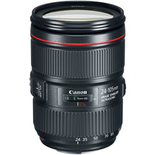 Load image into Gallery viewer, Canon EF 24–105mm f/4L IS II USM Lens + UV Filter + Lens Cleaning Pen + Lens Cap Keeper + Cleaning Cloth - 24-105mm II IS: Ultrasonics Motor