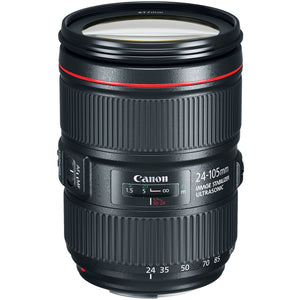 Canon EF 24–105mm f/4L IS II USM Lens + UV Filter + Lens Cleaning Pen + Lens Cap Keeper + Cleaning Cloth - 24-105mm II IS: Ultrasonics Motor