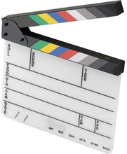 Load image into Gallery viewer, Elvid 9-Section Acrylic Production Slate with Color Clapper Sticks